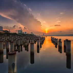 Sun Path by Lb Chong Jacobs - Landscapes Sunsets & Sunrises