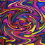 Frenzy by Amada Gonzalez - Abstract Patterns ( abstract, pattern, colorful, swirl, art )