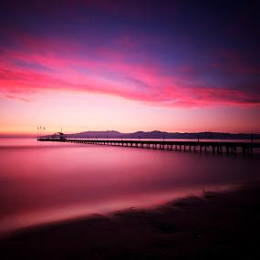 sunset (le) by Ömür Kahveci - Landscapes Waterscapes