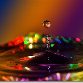 colored waterdrop by Paul Wante - Abstract Water Drops & Splashes ( abstract, waterdrop, color, splashes, photography )