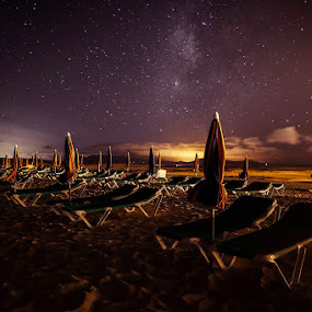 Starry sky by Wojciech Toman - Landscapes Starscapes