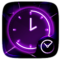 Glow GO Clock Theme APK for Bluestacks