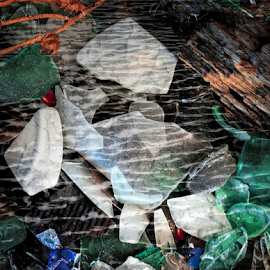 Under Water Sea Glass by Doreen Rutherford - Artistic Objects Other Objects