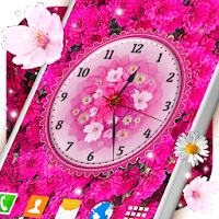 Flowers Analog Clock Live Wallpaper pour PC (Windows / Mac)