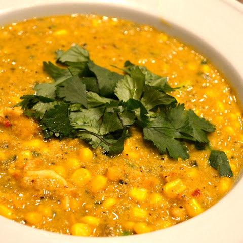 Spicy Corn and Lobster Chowder