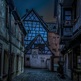 Ribeauvillé, Alsace, France by Crinu Topalo - Buildings & Architecture Homes ( fantasy, home, night photography, village, dream, night, france, travel )