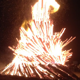 WHOOP!!! by Kathy Psencik - Abstract Fire & Fireworks ( bonfire, btho bonfire, we will never forget bonfire, aggie tradition, aggie bonfire, texas a&m bonfire )