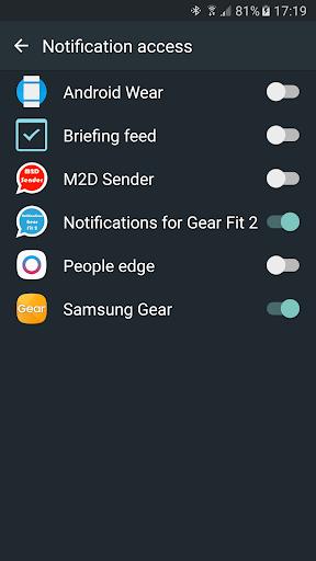 Notifications for Gear Fit 2 - screenshot