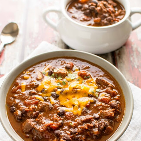 Crockpot Beefy Roasted Tomato Chili
