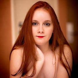 Ana by Gabriel Fox - Nudes & Boudoir Boudoir ( redhead, face, pose, ginger, portrait, cute, eyes,  )
