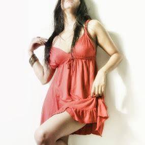 Lady in Red by Rendy Yuninta - People Fashion ( fashion model )