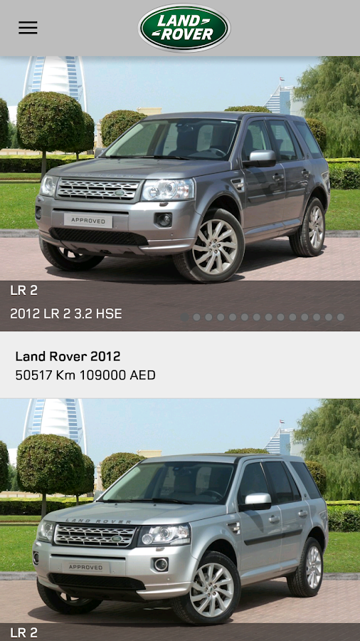 LAND ROVER APPROVED CARS MENA Screenshot 3