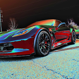 by Jeffrey Lorber - Transportation Automobiles ( corvette, lorberphoto, vette, chevrolet, red auto )