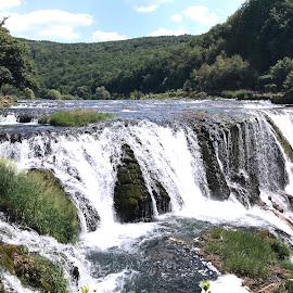 Waterfall-Strbacki buk on the river Una near Bihac by Alesanko Rodriguez - Nature Up Close Water ( national park, una, bosnia and herzegovina, europe, nature, balkan, unabihac, waterfall, strbacki buk, river )