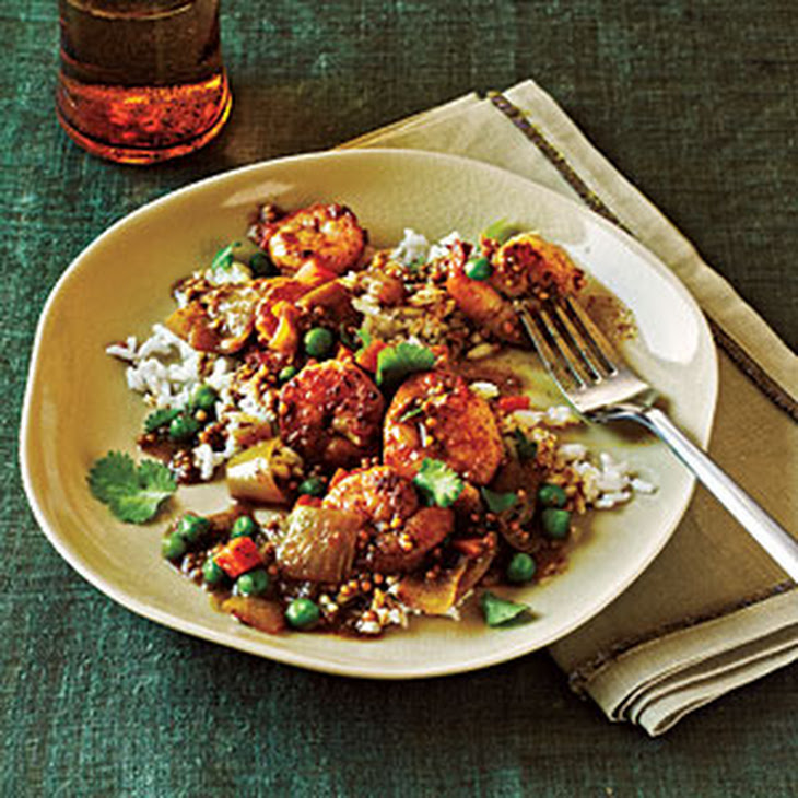 Bombay Shrimp Curry with Coconut Rice Recipe | Yummly