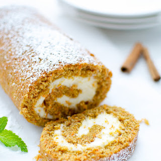 Carrot Cake Roll With Cream Cheese Filling