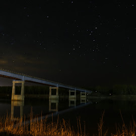 Missouri Crossing by Laura Gardner - Novices Only Landscapes ( water, landscapes & wildlife, stars, nd, 2015, tripod required, night time, missouri river, outdoor adventure )