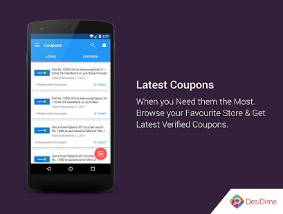 Free DesiDime Coupons & Offers APK for Windows 8