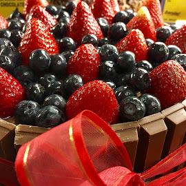 Berries and Kit Kat  by Lope Piamonte Jr - Food & Drink Cooking & Baking