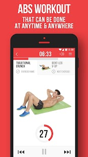 Six Pack ABS by VGFIT Fitness app screenshot for Android