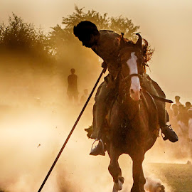 Dandu by Abdul Rehman - Sports & Fitness Other Sports ( sand, natural light, desert, horse, angry, dangerous, horseback, rally, pakistan, adventure, multan, thrilling, riding, dangerous sport, dust, sun light )