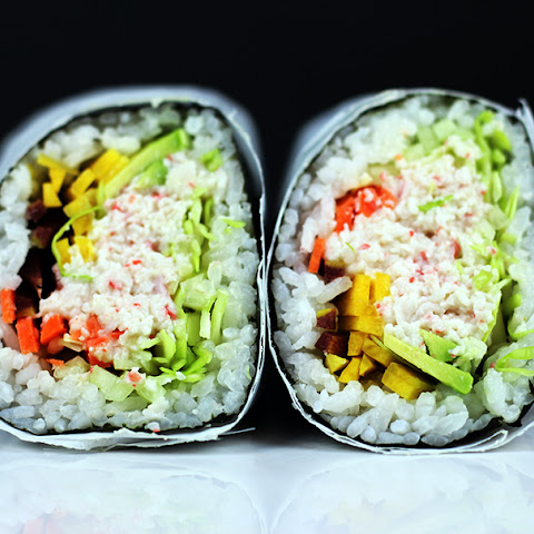 Imitation Crab California Roll Burrito