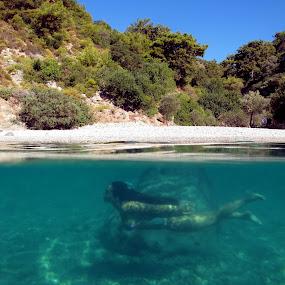 Mermaidia ! by Marc-Antoine Kikano - Sports & Fitness Swimming ( water, girl, vacation, nature, underwater, beach, swimming )