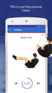 Kettlebell Workouts by Fitify Fitness app screenshot for Android