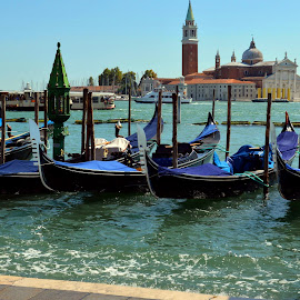 Venice by Ricardo Fong - Landscapes Travel ( gondola, blue, venice, sea, italy,  )