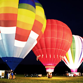 by Alice Gipson - Transportation Other ( nighttime, alicegipsonphotographs, air balloons, night, balloons, hot air balloons )