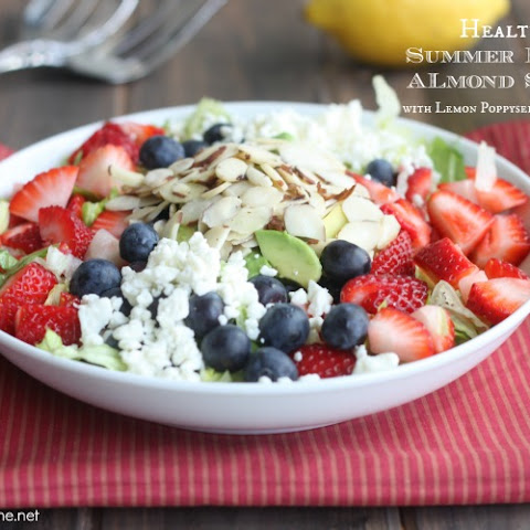 Healthy Berry Almond Chopped Salad with Lemon Poppyseed Vinaigrette