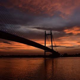 The 2nd Hooghly Bridge, Kolkata, India by Gautam Tarafder - Buildings & Architecture Bridges & Suspended Structures ( #kolkata, #vidyasagar_setu, #bridges, #ganges )