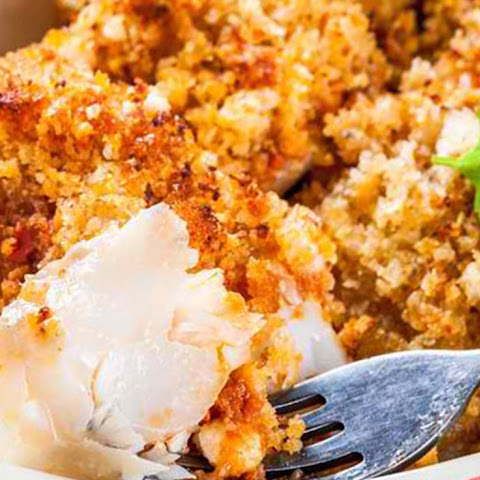 Baked Cod in Breadcrumbs