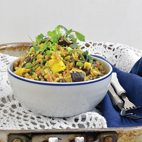 Roasted Zucchini and Mushroom Pilaf Bowl