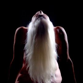 Looking Towards the Light by Richard Hutchinson - Nudes & Boudoir Artistic Nude ( fine nudes, ahava, light and dark, mature, grandmother )
