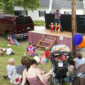 Marionettes at a children's festival by Stephen Deckk - People Musicians & Entertainers
