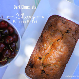 Dark Chocolate Cherry Banana Bread {Recipe} | Whole Foods Cherry Sale + #Giveaway #WFMCherryFest @WFMorangecounty
