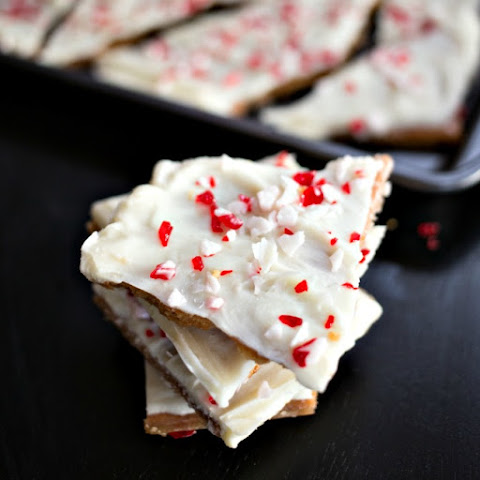 White Chocolate Peppermint Candy Bark