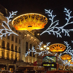 Regent Street by Stephanie Moore - Public Holidays Christmas ( lights, london, christmas, regent street )
