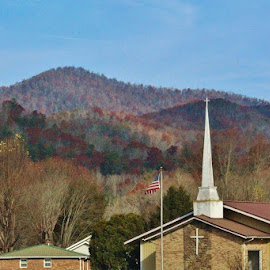 Church Steeple by Terry Linton - Buildings & Architecture Places of Worship