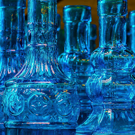 Bottle ware by James Kirk - Artistic Objects Glass ( blue, glass, bottles )