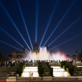 Plaza Espana by Nikolas Ananggadipa - City,  Street & Park  Night ( cityscapes, night scene, cityscape, spain, city, nightscape, lights, night photography, fountain, night, night shot, barcelona, nightscapes )