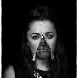Zipper by Stephen Crawford - Digital Art People ( make up, dressing up, horror, zippermhairi, halloween,  )