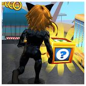 Subway Cat Girl Noir