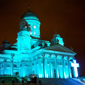 Night shot_White Church_Helsinki by Shashank Shekhar - Instagram & Mobile Other ( n900 )
