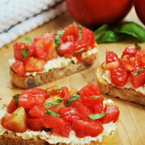 Fresh Tomato and Ricotta Bruschetta