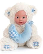 """Кукла """"Anna De Wailly"""" Медвежонок с шарфиком 25см"""