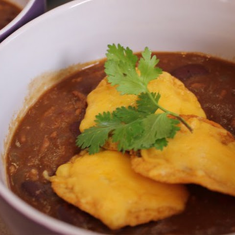 Speedy Chilli Con Carne Soup with Chocolate and Nachos