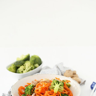 Guest Post by Ali Maffucci – Sesame-Ginger Garlic Chicken and Broccoli Carrot Noodle Stir Fry