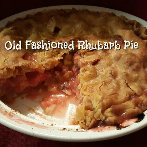 My Old Fashioned Rhubarb Pie